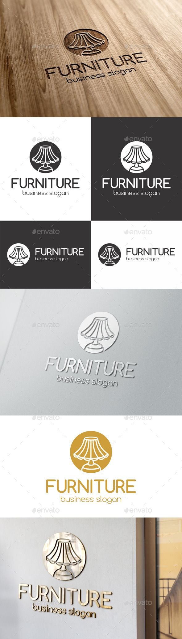 Furniture – Desk Lamp Logo – designed for lampshade stores or manufacturers. Great multi purpose Logo for interior studios, furniture and home decoration stores. Suitable for media business, design agencies, video developers, print and photography businesses and many many other. It is made by simple shapes although looks very professional. – Also suitable for any web startup projects. Awesome multipurpose logotype for Your successful business.