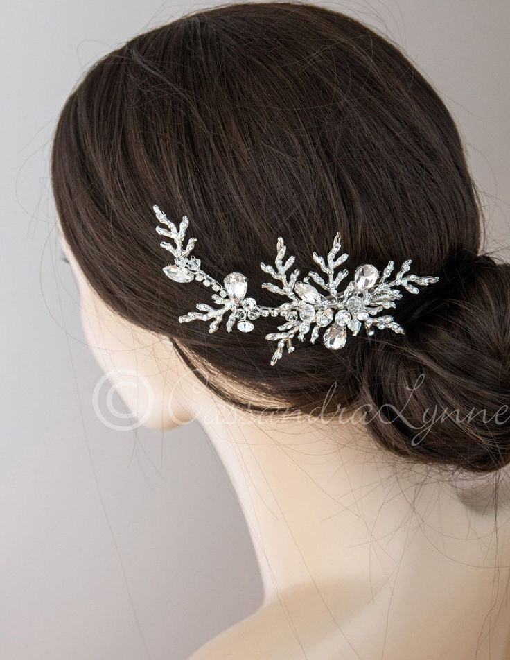 Woodland Wedding Hair Clip with Crystals