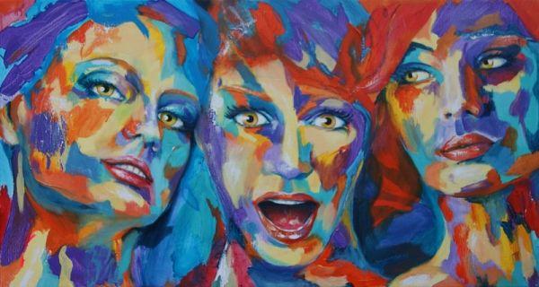 © Artist: Tamara Sille, Color Grimace IV 70cm x 130cm see at SilleKunst.nl