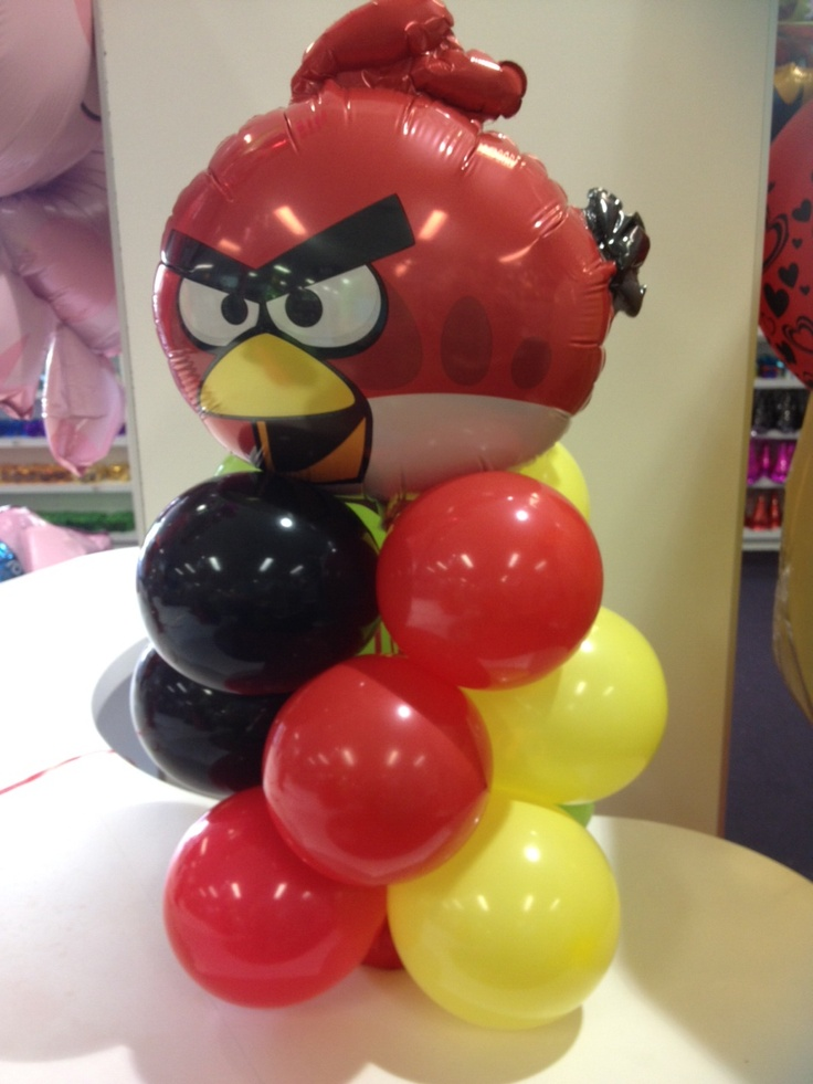 Best 20 balloon arrangements ideas on pinterest balloon for Angry bird decoration ideas
