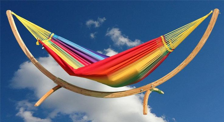 Geweven hangmat Rainbow Two Large