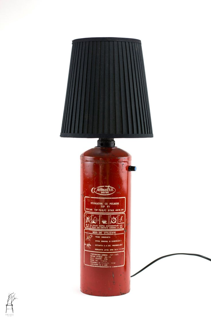 Vintage Fire Extinguisher Lamp by PriosTeam on Etsy