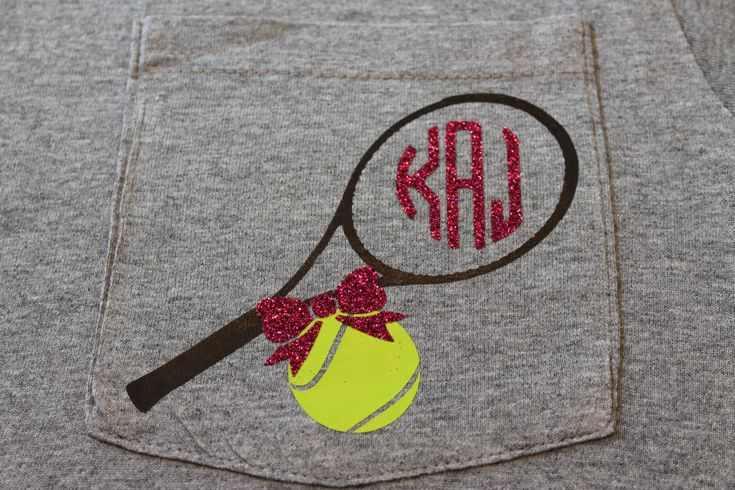 A personal favorite from my Etsy shop https://www.etsy.com/listing/271555480/tennis-racket-ball-monogram-iron-on-heat