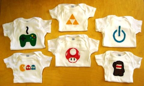 Video game onesies for baby geeks my brothers are going to have the nerdiest kids ever!