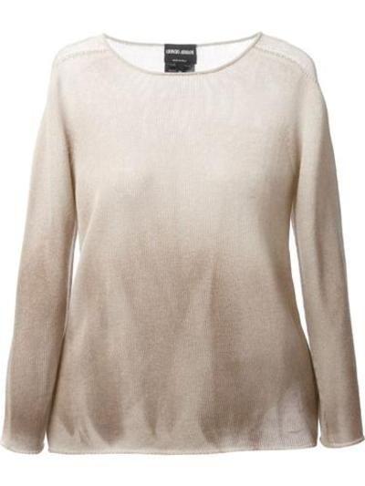 GIORGIO ARMANI gradient jumper #sweater #women #covetme #nastygal #fashion #yolo #swag #lifestyle #pink #diva #glitter #highfashion #follow #zara #dolcegabanna armani #giorgioarmani #designer #covetme
