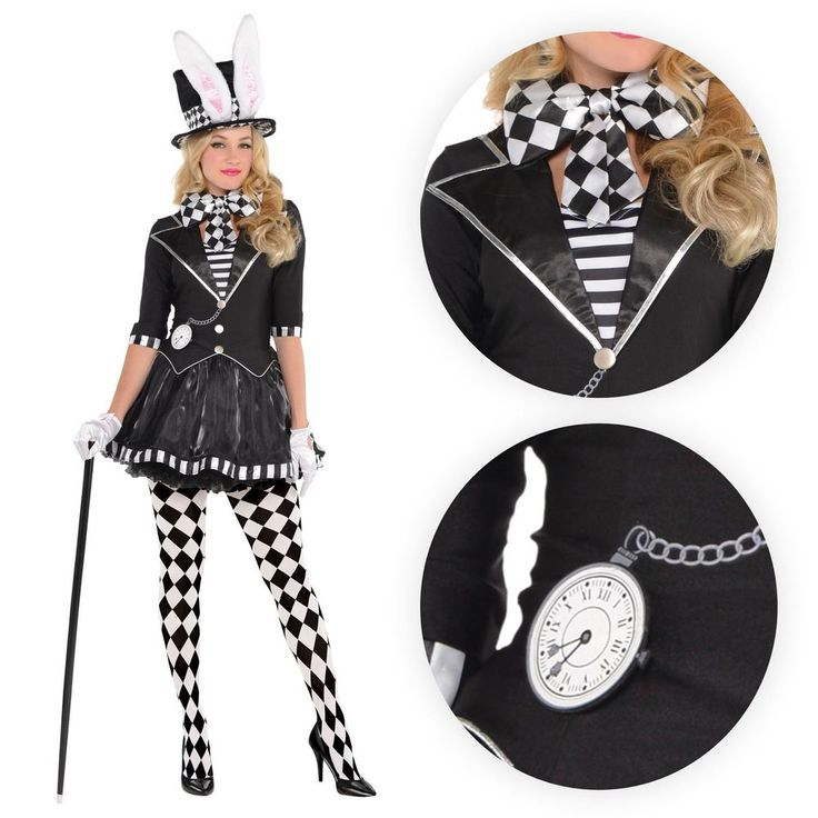 Ladies Goth Dark Mad Hatter Fairytale Story Book Fancy Dress Costume Tights Hat | Clothes, Shoes & Accessories, Fancy Dress & Period Costume, Fancy Dress | eBay!