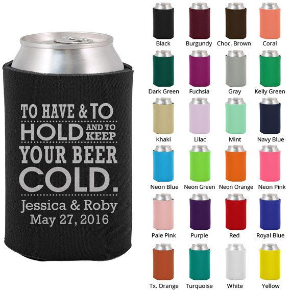 Wedding Koozies Clipart 1096 To Have And To Hold Koozie