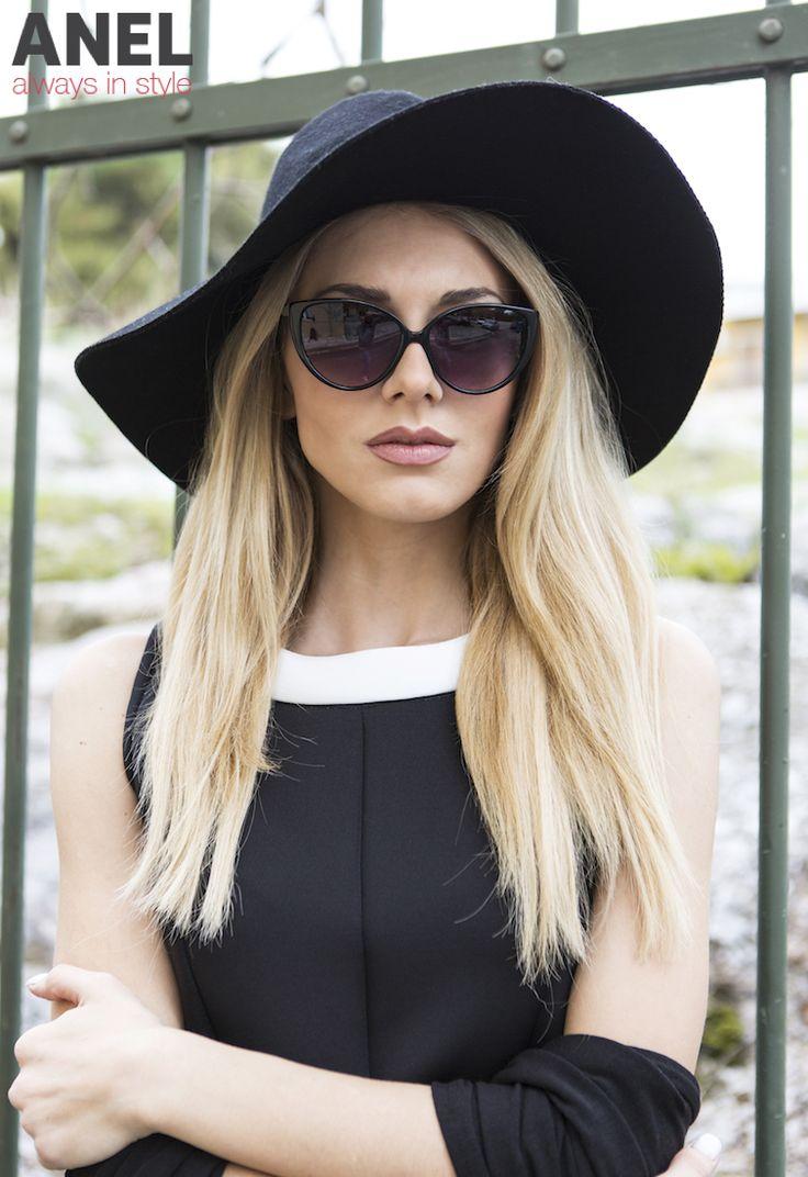 Μαύρο φόρεμα ANEL Fashion