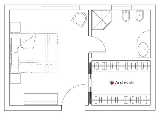 Master bedroom - Bedroom  Autocad drawings