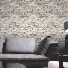 Fine Decor Slate Wallpaper in Natural Stone - FD31292