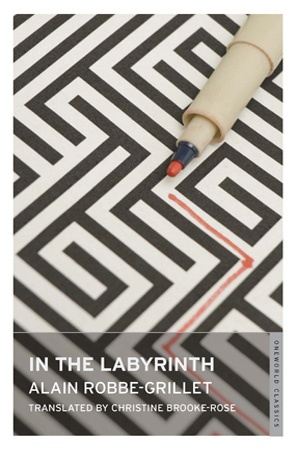 IN THE LABYRINTH by Alain Robbe-Grillet.   -   The powerful sense of defamiliarization that Robbe-Grillet's novel achieves, its ability to make the common seem suddenly strange and alien, is one which might be usefully re-conceived in terms of an electronic hypertext. If changes between nodes occurred randomly and invisibly at suitable points, the reader would experience a seemingly unified text, but each path would be different.