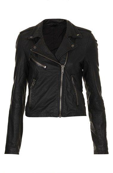 Topshop Boutique Leather Moto Jacket | Nordstrom
