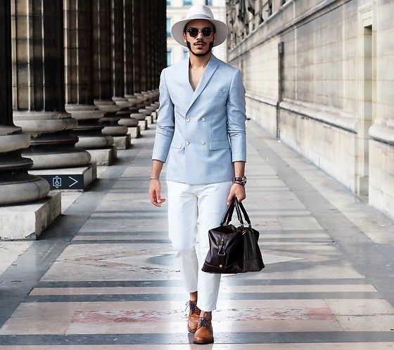 Marks & Spencer Blazer, Marks & Spencer Shoes, Marks & Spencer Bag . Elegant style for Men