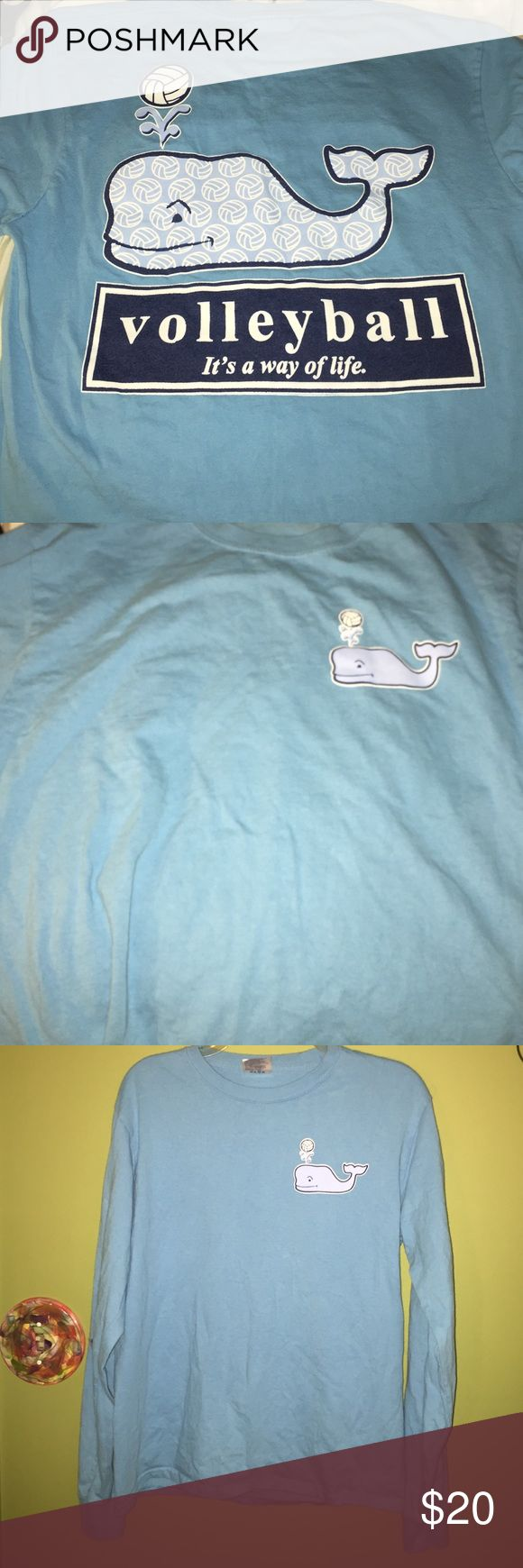 Volleyball Whale Shirt Only worn one time!! Isn't a real vineyard vines t shirt Vineyard Vines Tops Tees - Long Sleeve