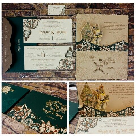 Vinas invitation. Traditional wedding. Invitation custom. Wedding invitation. Traditional indonesia wedding. Any question pls visit us at website www.vinasinvitation.com. courtesy of Aisyah & Ayat