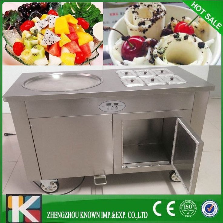 1150.15$  Buy now - http://alit7v.shopchina.info/1/go.php?t=32728463578 - R410A single big 45cm pan Professional thailand rolled fried ice cream machine with free sea shipping  #magazineonlinebeautiful