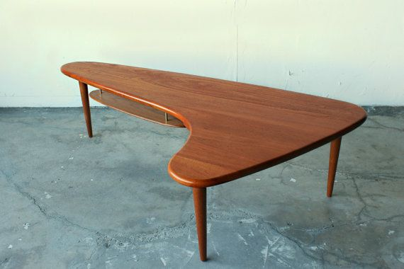Stunning Mid Century Danish Solid Teak Rare Boomerang Coffee Table By Peter Hvidt Furniture Pinterest Modern