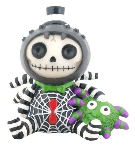 Webster Spider Furry Bones Skellies Figurine [8140S] - $7.99 : Mystic Crypt, the most unique, hard to find items at ghoulishly great prices!