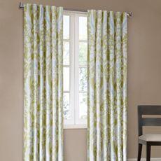 Positano Print Window Curtain Panels - 100% Cotton