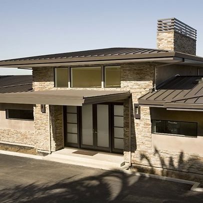 10 best metal roof images on pinterest exterior homes for Metal hip roof