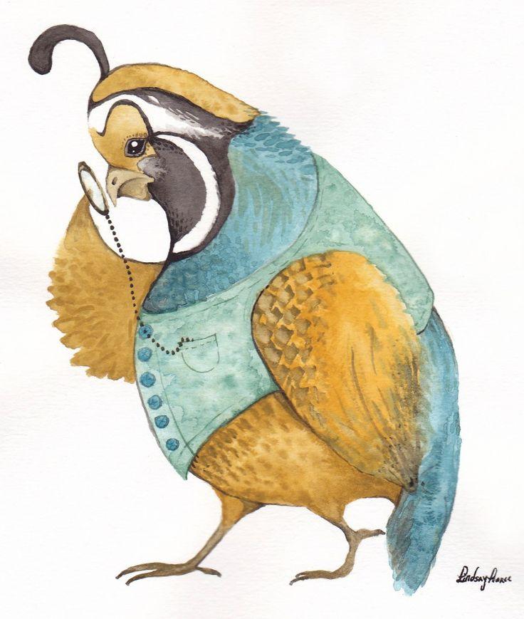 : Artsy Things, Animal Things, Sketch Drawings, Lindsay Pearc, Birds Paintings, Art Ideas, Quails Watercolor, Yummy Stuff, Macaw