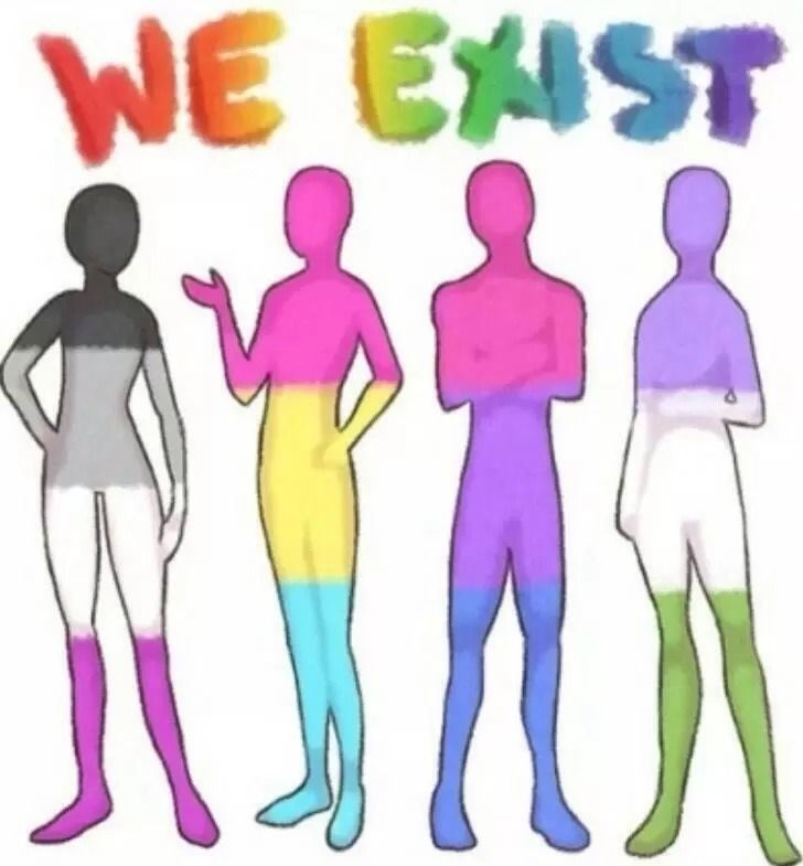 "We all exist xx asexuals, pansexuals, bisexuals, and genderqueer xx were not a phase, we're not ""wanting attention"", we're not ""wanting to be special"", no, we're real."