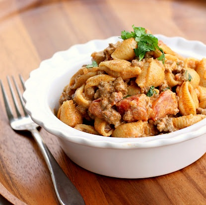 Taco Pasta I The Girl Who Ate Everything: Fun Recipes, Tacos, For Kids, Easy Dinner, Food, Cream Cheese, Taco Pasta, Dinner Recipe, Tacopasta