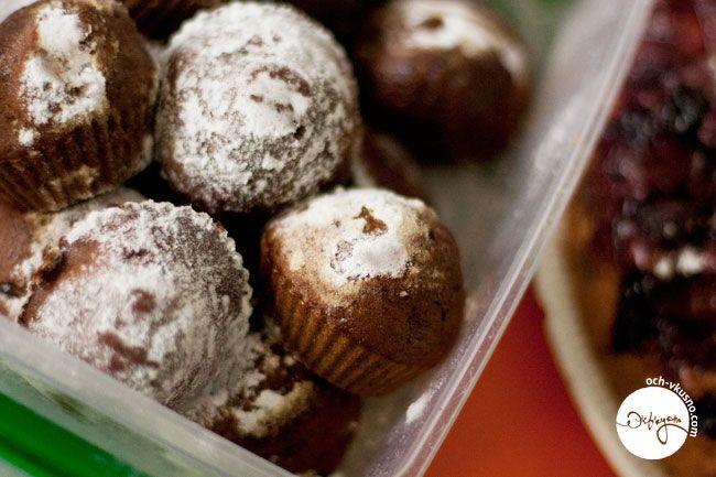 Кофейные кексы с шоколадной крошкой (vegan)