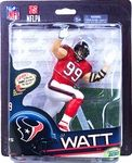 JJ Watt (Houston Texans) Manufacturer: McFarlane Toys Series: McFarlane Toys NFL Sports Picks Football Series 33 Action Figures Release Date: November 2013 For ages: 4 and up UPC: 787926756357 Details (Description): McFarlane NFL Sports Picks Series 33 figurines delivers one of the most content relevant lineups in years, with SIX SportsPicks debuts (out of the seven figure lineup), including NFL legendary wide receiver Michael Irvin.