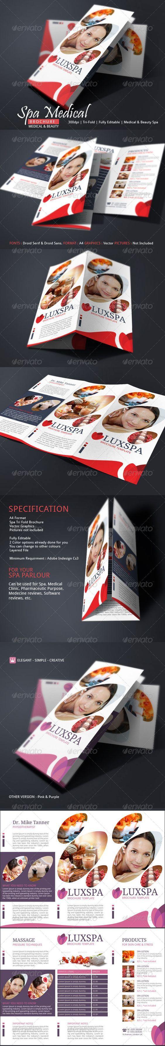 Best Spa Brochure Design Images On   Brochure Design