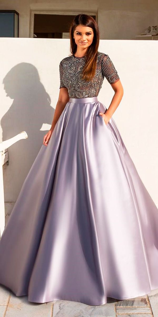 18 Purple Wedding Dresses New Trend For 2019 Wedding Dresses Guide Floral Skirt Outfits Indian Fashion Dresses Indian Gowns Dresses