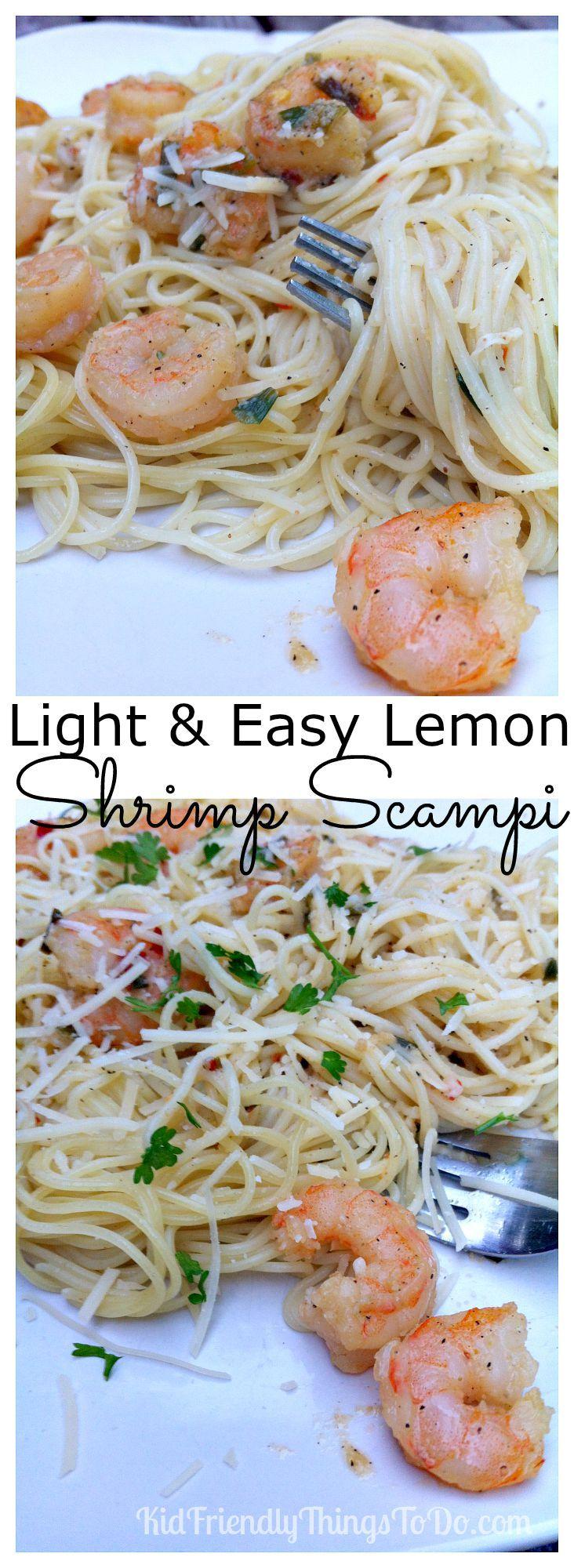 Easy Lemon Shrimp Scampi Recipe | Kid Friendly Things to Do.com - Family Recipes, Crafts, and Fun Foods