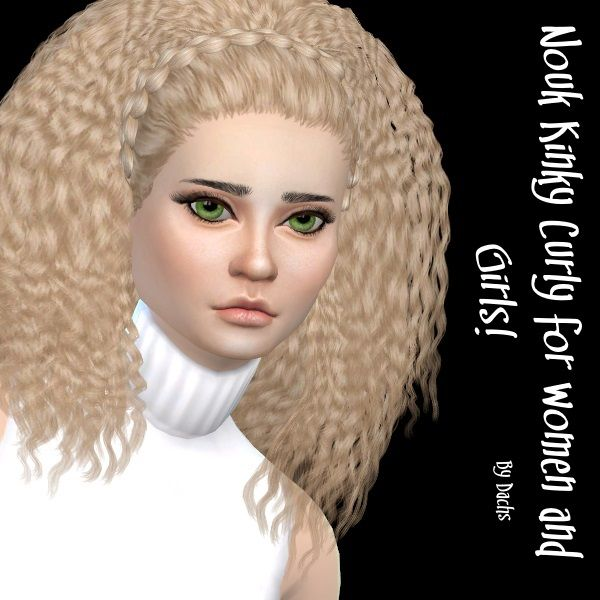 Nouk Kinky Curly hair at Dachs Sims via Sims 4 Updates