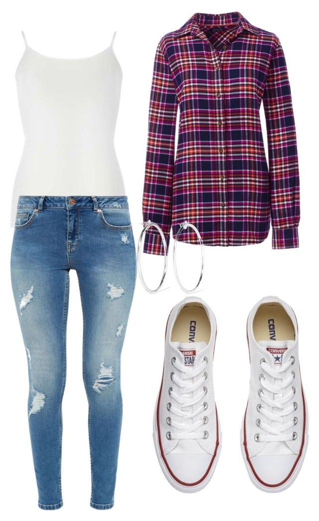 """Untitled #12"" by allygleavy12 on Polyvore featuring Dorothy Perkins, Lands' End, Ted Baker, Converse and Jennifer Fisher"