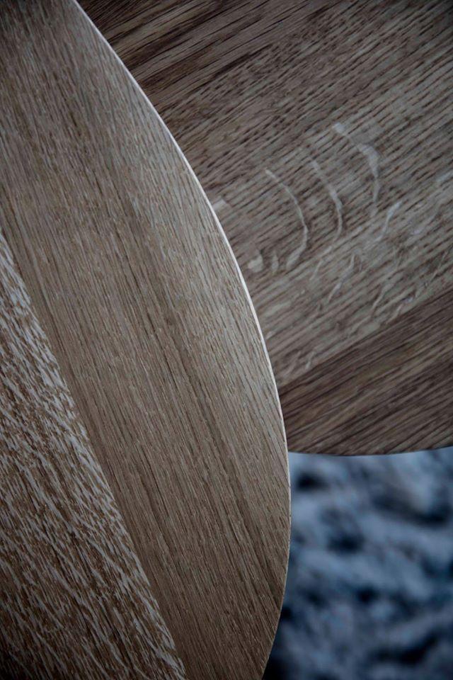 Wooden furniture is full of those charming natural characteristics. Primum Table in oak.  #wood #træmøbler #spisebord #details