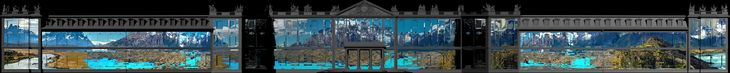 Superstudio- and Lebbeus Woods-Inspired Projections Light Up the Karlsruhe Palace