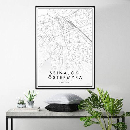 Tyylikäs ja minimalistinen näkemys Seinäjoen keskustasta. Julisteen koko: 50 x 70 cm. Painettu laadukkaalle 170-grammaiselle mattapintaiselle paperille. Juliste myydään ilman kehyksiä.