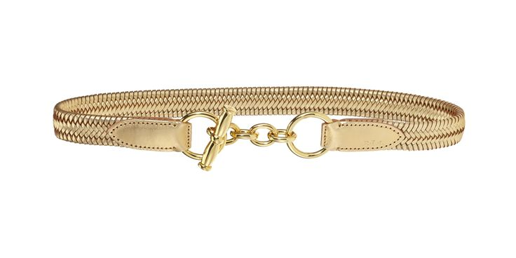 Gold accessoire for an utilitarian party outfit from #PoloRalphLauren
