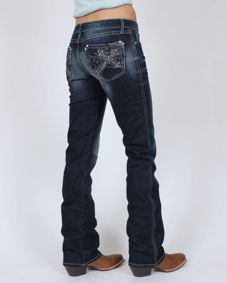 Rock 47™ By Wrangler® Ladies' Cross Pocket Jeans :: Fort Western Online
