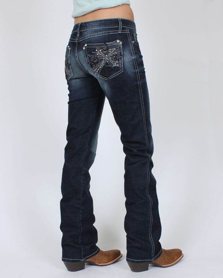 Rock 47™ By Wrangler® Ladies' Cross Pocket Jeans :: Fort Western Online