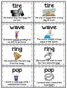 HOMOGRAPHS (MULTIPLE MEANING WORDS) MEMORY - ALIGNED WITH COMMON CORE STANDARDS - TeachersPayTeachers.com                                                                                                                                                                                 More