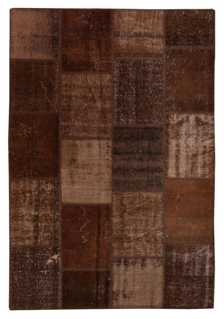Overdyed Patchwork Carpet - Brown Vintage Stylish Patchwork Rug -  Recoloured Contemporary Rug #bathroom-rug #brown-carpet #brown-carpet-rug #brown-kilim-patchwork #brown-kilim-patchwork-rug #brown-patchwork-rug #contemporary-rug #decorative-rug #diaper-pattern #diaper-rug #great-deal #kitchen-rug #mat #modern-rug #orange-rug #patchwork #patchwork-carpet #patchwork-rug #puzzle-rug #rug-for-childrens-room #rug-for-kitchen #rug-on-sale