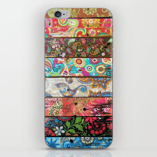 Paisley Planks iPhone & iPod Skin