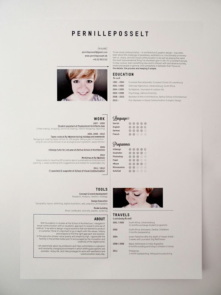 43 Best Design Creative Resumes Images On Pinterest Cv