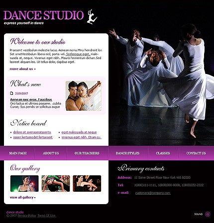 Dance Studio Flash Templates by Di