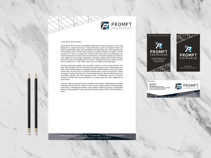 Prompt Engineering branding package // business card, stationery design, email banner design and website content writing + design management