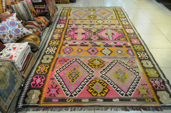 Vintage oversized kilim. Kilim rug. Turkish by turkishrugman