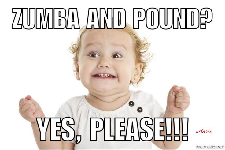 Zumba Pound funny rockout workout humor Becky