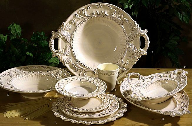 Beautiful Baroque Cream Intrada Dishes !