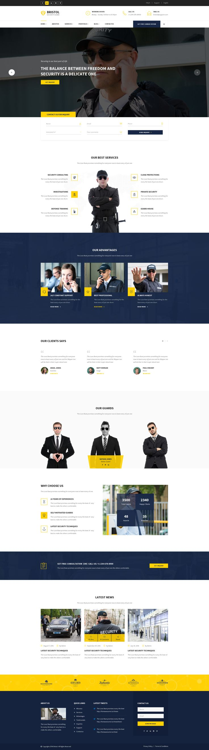 Bristol : Security Guard PSD Template • Download ➝ https://themeforest.net/item/bristol-security-guard-psd-template/18532360?ref=pxcr
